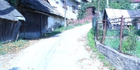 Výstavba cesty do osady Korcháň